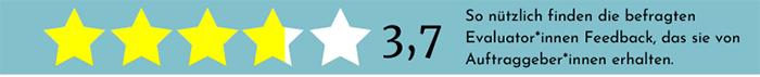 Feedback als Sternenbewertung zur Umfrage - Lernen aus Evaluationen