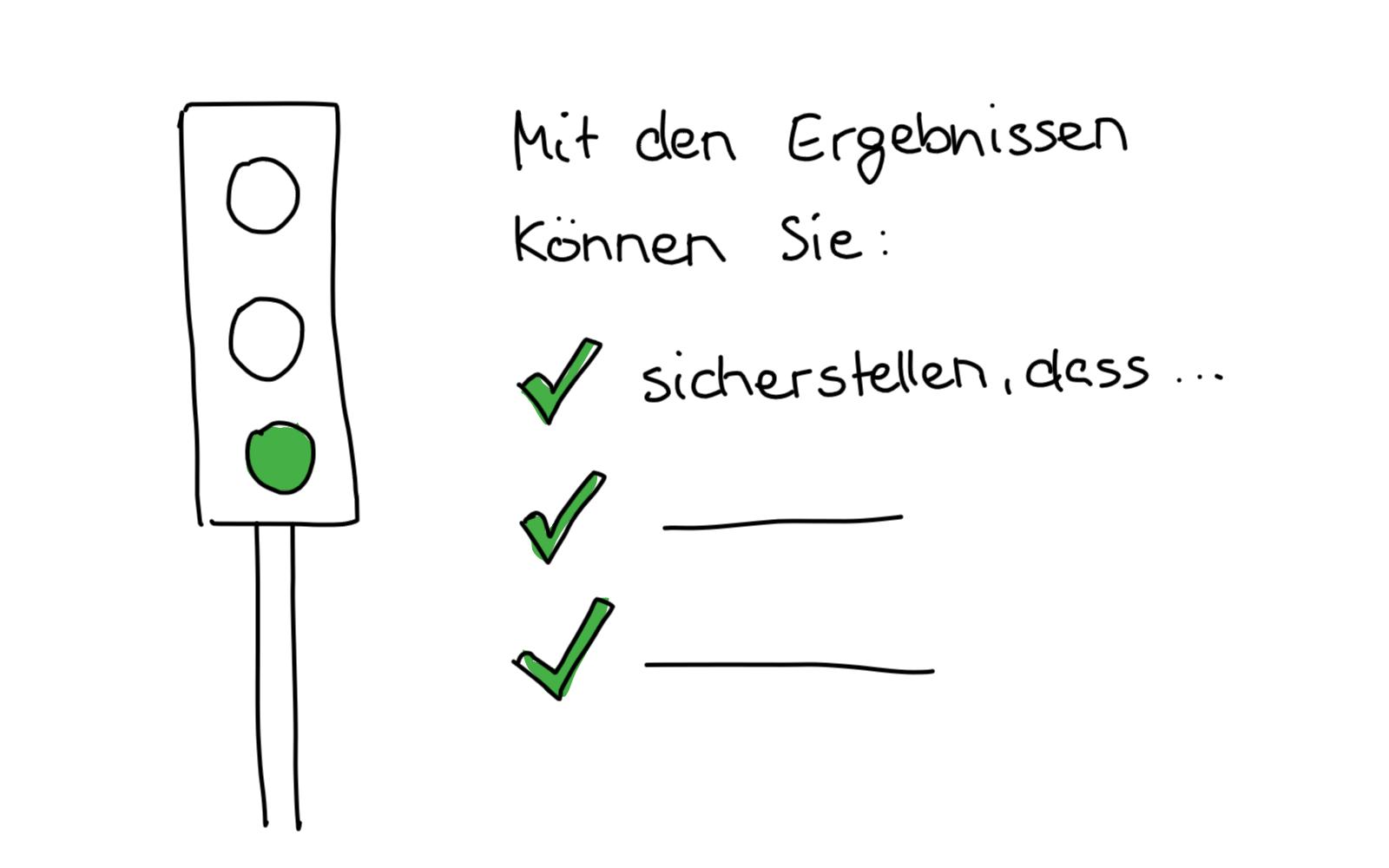 Evaluation grüne Ampel